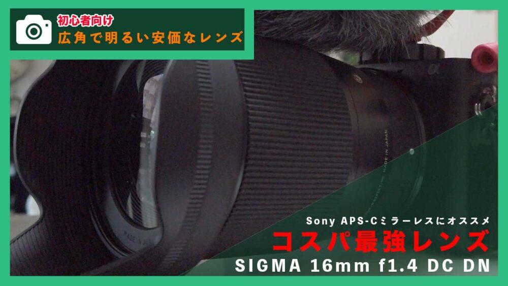 【SIGMA 16mm f1.4 DC DN】動画撮影初心者におすすめの広角レンズ